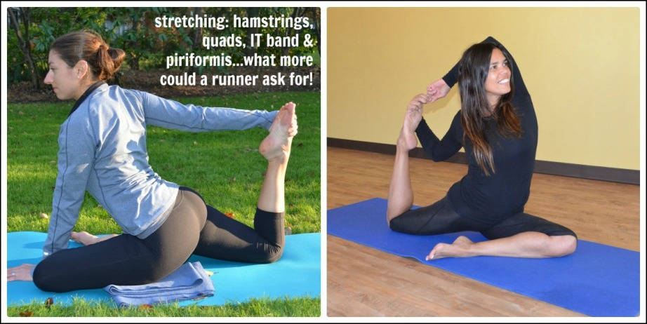 A yoga pose that is great for runners. Image from liverungrow.com.