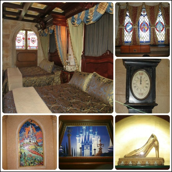 Notice what time is on the clock!  It's almost one minute to midnight in the castle suite so the magic never ends!