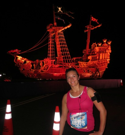 Christina in front of Captain Jack's ship!
