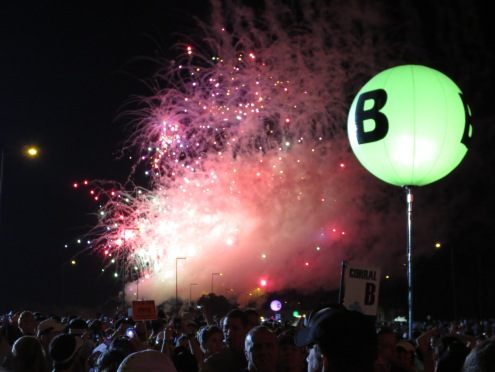 Corral B Starting Fireworks!