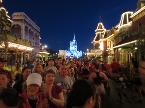 View running down Main Street...definitely my favorite part of the race!