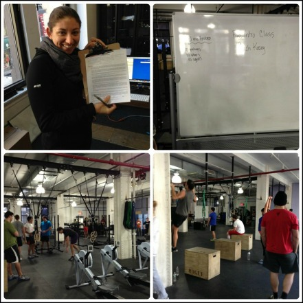 Signing my life away at my first CrossFit class!