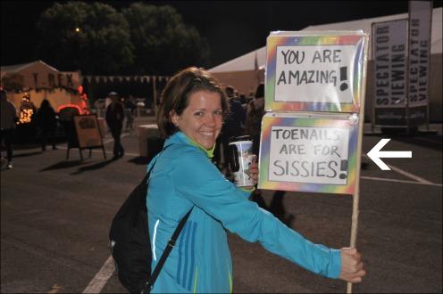 Marathon Toenail Sign