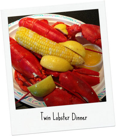 Twin Lobster Dinner