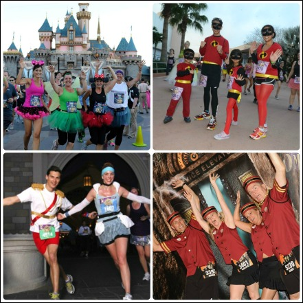 runDisney Costume Collage