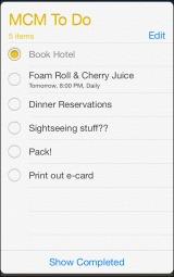 MCM: Weekend Planning