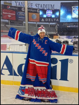 Rangers Snuggie at Yankee Stadium