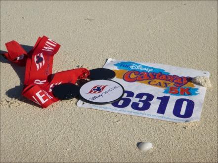 Castaway Cay 5k Bib & Medal