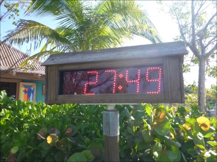 Castaway Cay 5k Clock