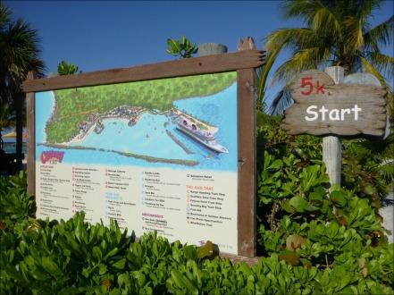 Castaway Cay 5k Map