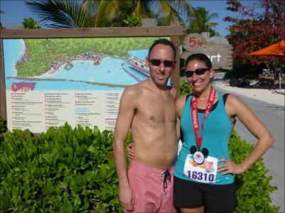 Castaway Cay 5k Medal with Jason