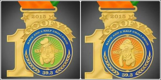 2015 Goofy Challenge Medal