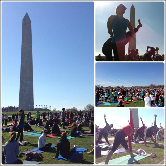 Yoga on the Mall Collage