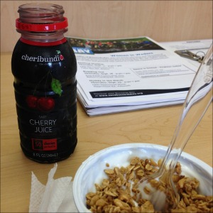 Cheribundi with breakfast