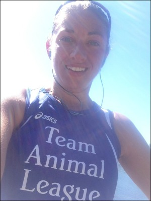 20 mile run selfie