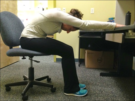Desk Yoga - Downward Dog
