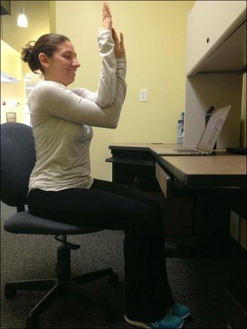 Desk Yoga - Eagle Arms