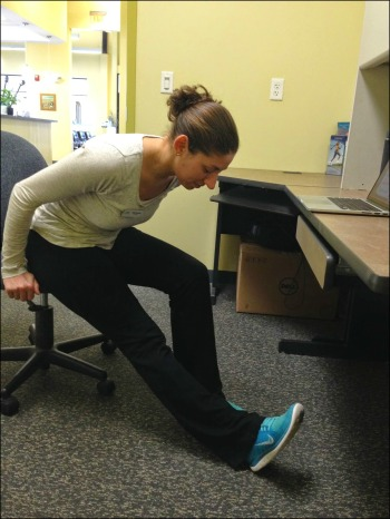 Desk Yoga - Seated Triangle Fold