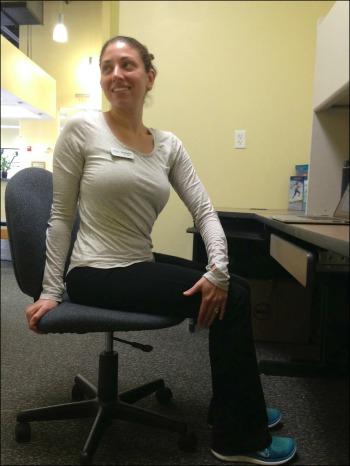 Desk Yoga - Seated Twist