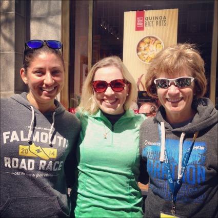 Boston Marathon Pam and Christine