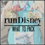 runDisney – What to Pack