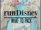 runDisney – What toPack