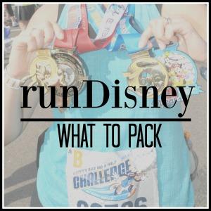 runDisney What to Pack