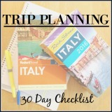 Trip Planning – 30 Day Checklist
