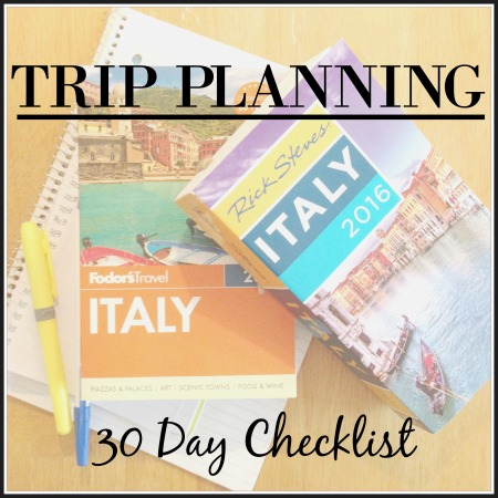 30 Day Checklist